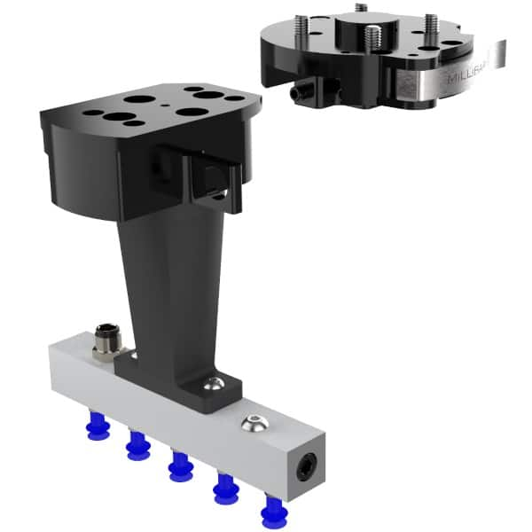 Manual Tool Changer with custom tool for handling semiconductors