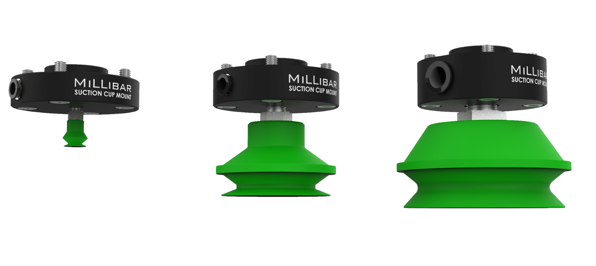 suction cup mounts for collaborative robots