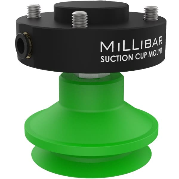 Millibar Suction Cup Mounts for Collaborative Robots